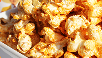 Popcorn with Tapatio