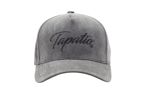 Tapatio Black Script Hat in Grey