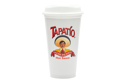 Tapatio Coffee Travel Cup in White