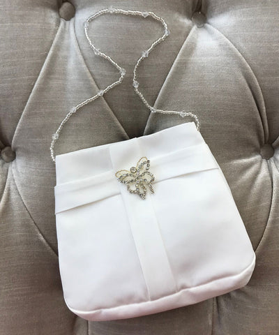 Diamante Butterfly Brooch Bag