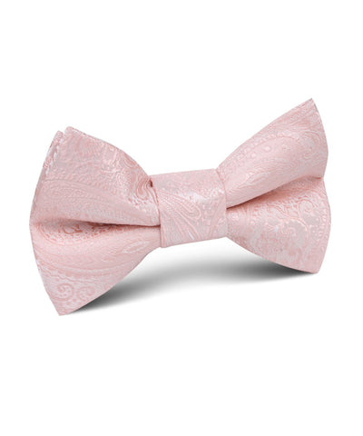 Blush Paisley Satin Bow Tie