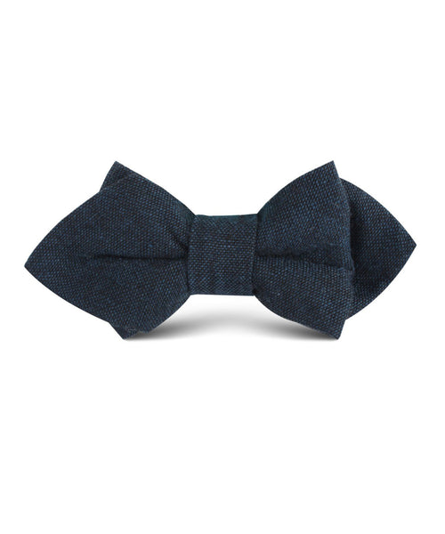 Navy Linen Diamond Bow Tie