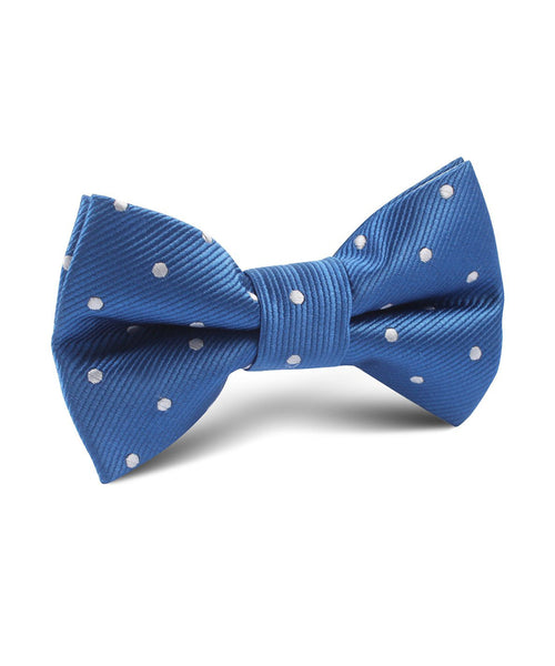 Royal Blue Polka Dot Satin Bow Tie