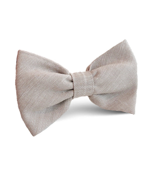 Stilosi Beige Cotton Bow Tie