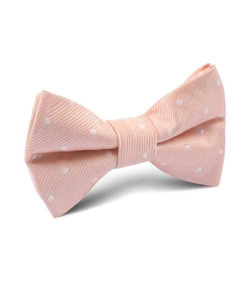 Peach Polka Dot Bow Tie