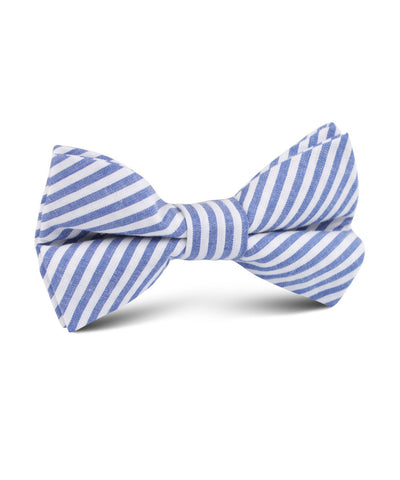 Blue Stripe Cotton Bow Tie