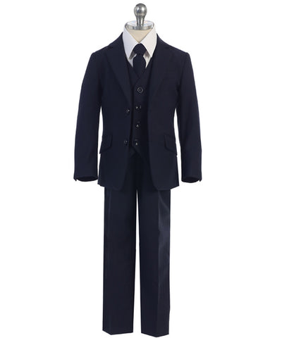 Slim Fit Classic Navy 5pc Suit Set