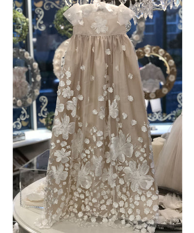 'Champagne Blossom' Couture Christening Gown
