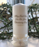 Crystal Cross Christening Candle
