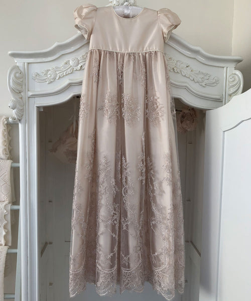 Floral Blush Heirloom Christening Gown