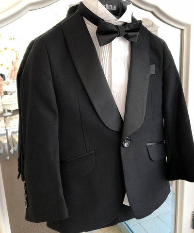 Isaac Mizrahi- Luxe Slim Fit 3 Piece Tuxedo Set