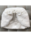 Luxe Smooth Faux Fur Sash Tie Capelet