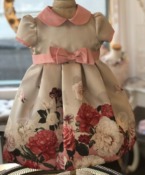 Ciccino Floral Detail Baby Occasion Dress