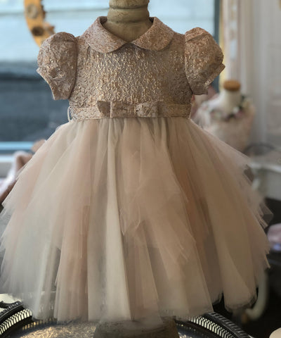 Ciccino Textured Metallic Baby Occasion Dress