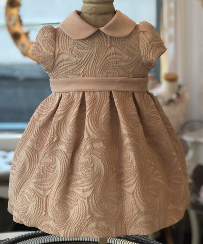 Ciccino Velvet Detail Baby Occasion Dress