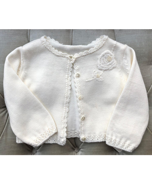 Rose Beaded Cardigan