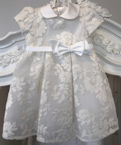 Ciccino Embroidered Flower Baby Occasion Dress