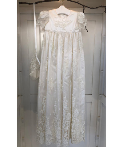 French Chantilly Lace Heirloom Gown Set