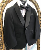 Isaac Mizrahi- Exclusive 5 Piece Luxe Slim Fit Tuxedo Set