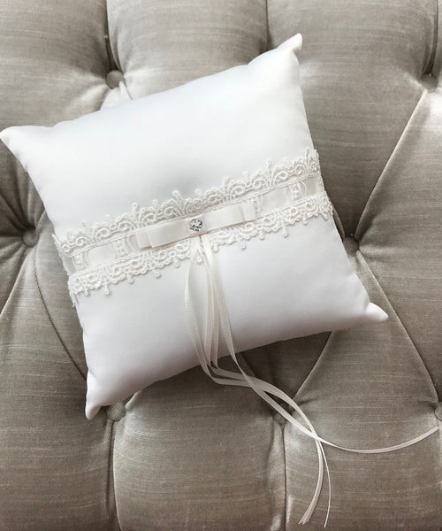 Satin & Lace Page Boy Cushion