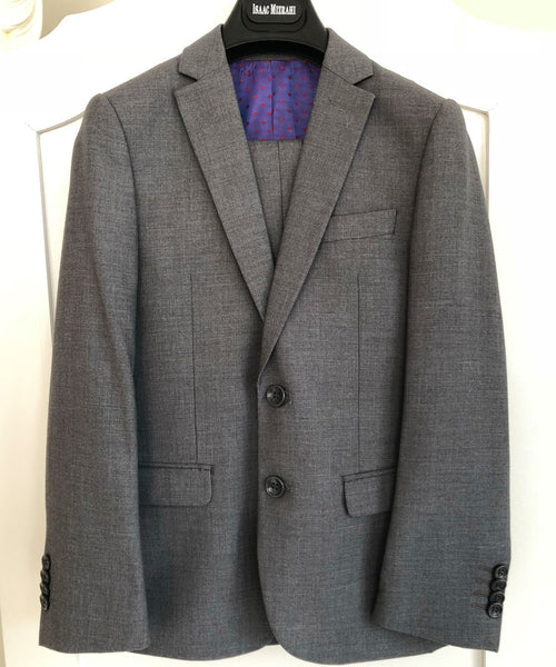 Isaac Mizrahi - Grey Boys 2-14 Years Luxe Two Piece Slim Fit Suit