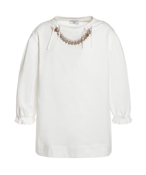 Monnalisa Jewelled Occasion Top