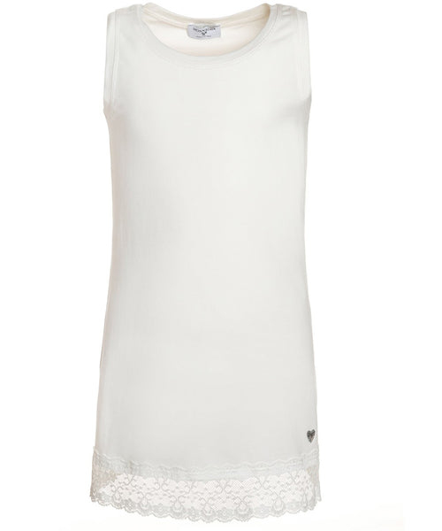 Monnalisa Lace Trim Tank Top