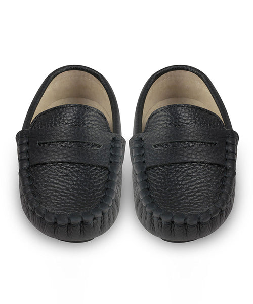 Oscar's For Kids Black Leather Loafers