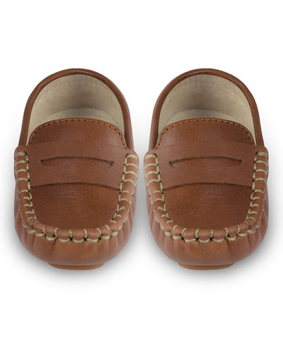 Oscar's For Kids Brown Leather Loafers