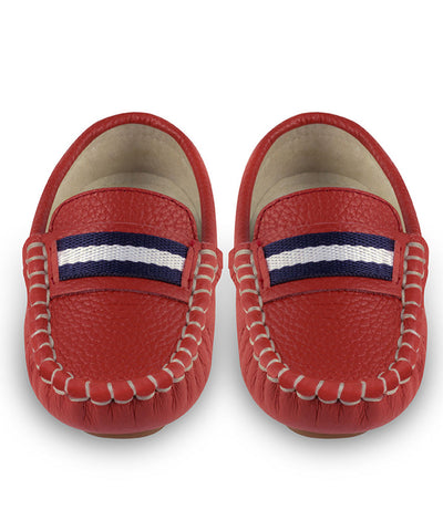Oscar's For Kids Red Leather Loafers