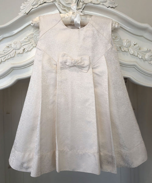 Pearl Bow Baby Dress