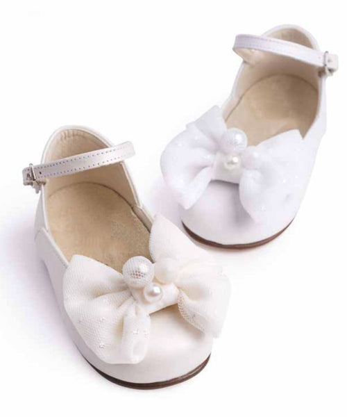 Pearl Embellished Toddler Shoes