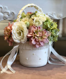 Pearl Beaded Flowergirl Basket