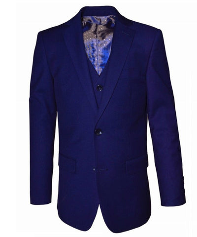 Older Boys 8-14 Years Luxe Slim Fit Suit - Navy