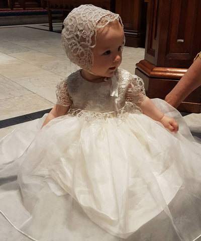 French Lace & Organza Baby Dress