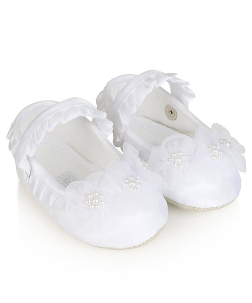 Pearl Organza Flower Shoes