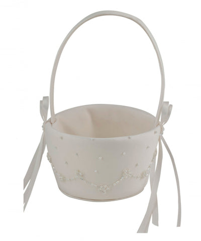 Scallop Beaded Flowergirl Basket