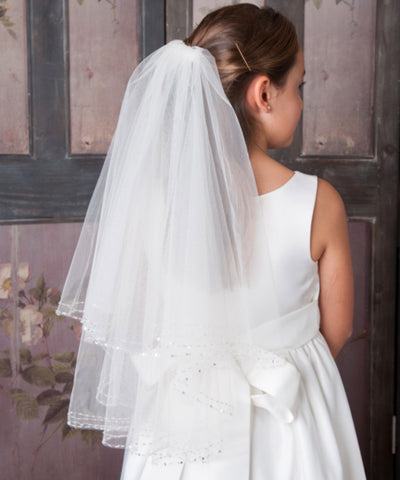 Double Beaded Trim Veil