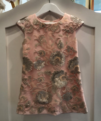 Antique Floral Sequin Dress