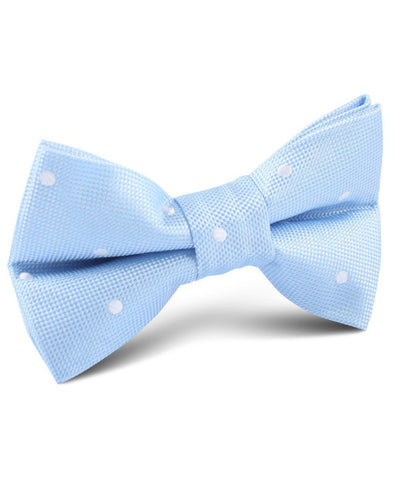 Baby Blue Polka Dot Bow Tie