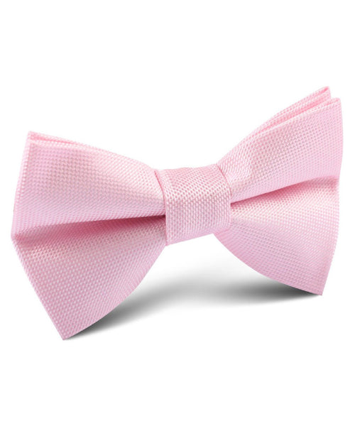 Baby Pink Textured Bow Tie