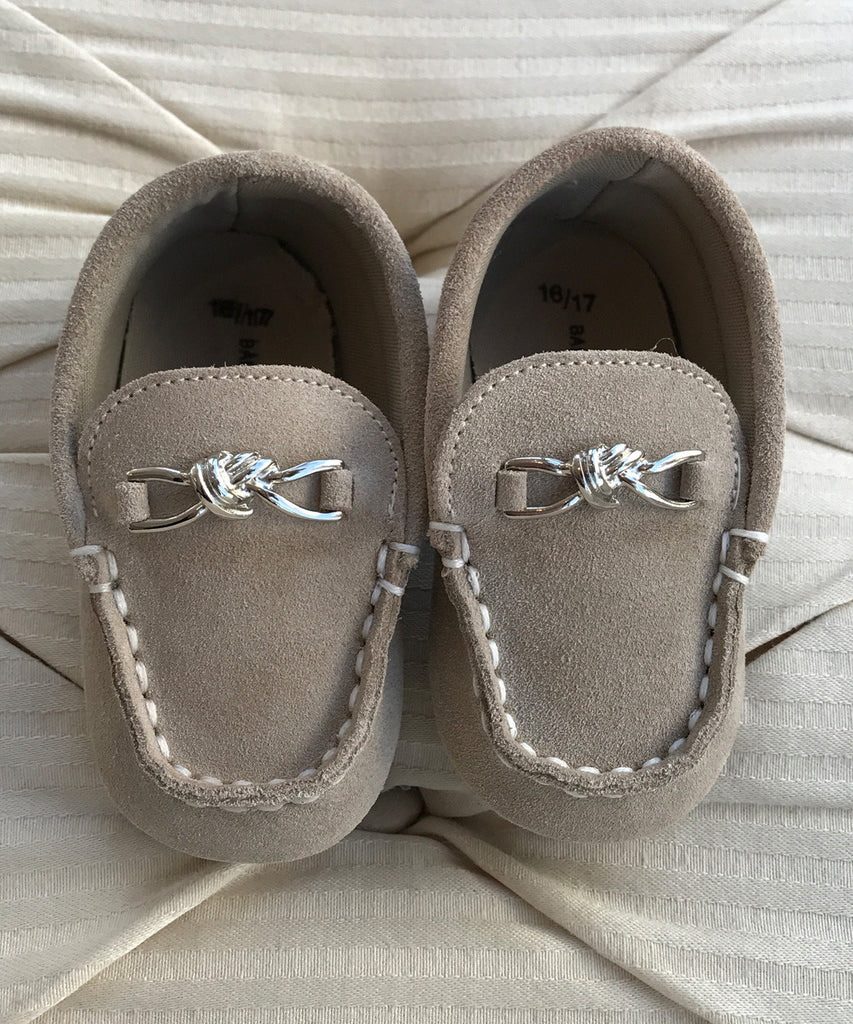 b0355d088a Beige Luxury European Suede Baby Moccasins – Stellina Cute Couture ...
