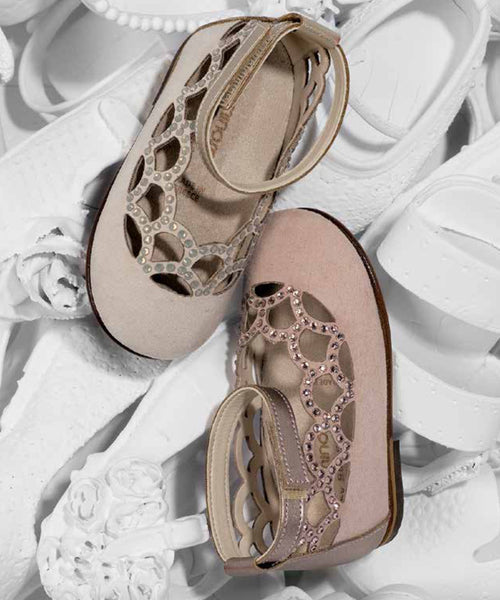 Blush /  Beige Suede Swarovski Crystal Shoes