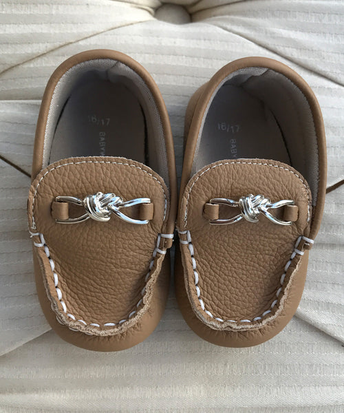 Caramel Baby Luxury European Leather Moccasins