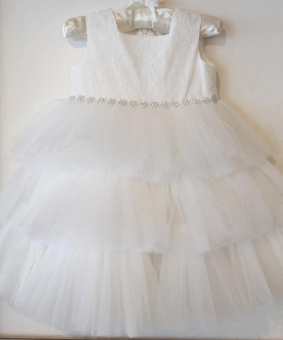 Ciccino Lace & Ruffle Tulle Occasion Dress