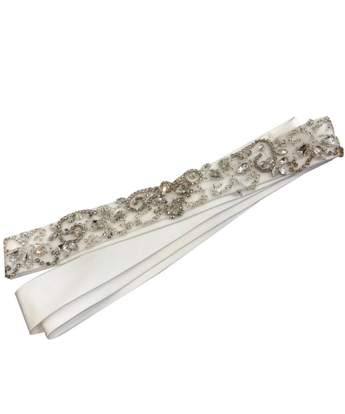 Diamond Sparkle Satin Sash