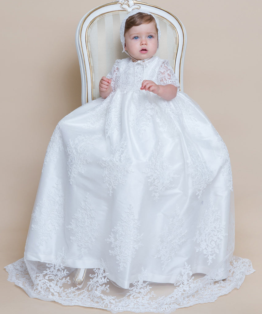 French Lace Christening Gown – Stellina Cute Couture For Children