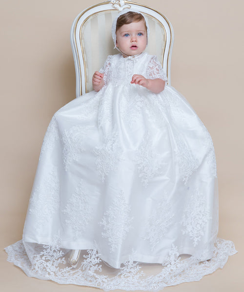 French Lace Christening Gown
