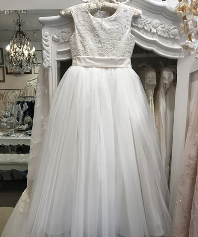 French Lace & Tulle Gown