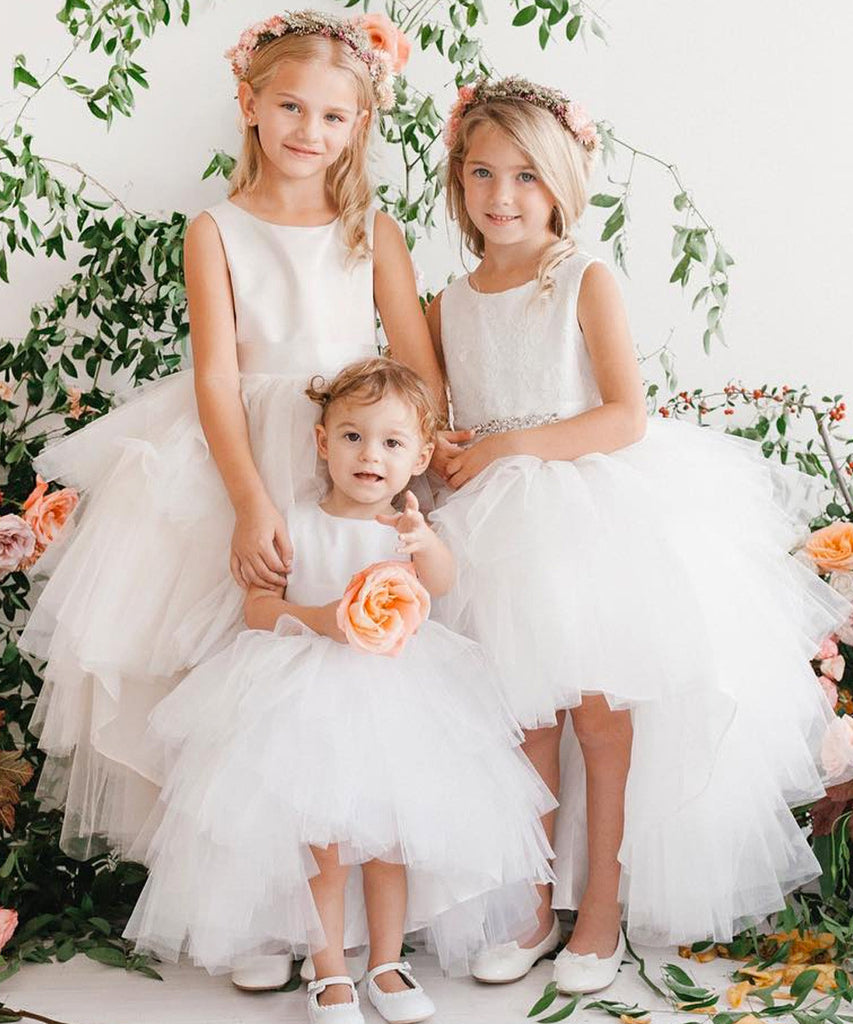 013a1c90f133 Princess Hi-Low Tulle Dress – Stellina Cute Couture For Children